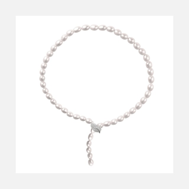 Luxury real pearl necklace with variable closing