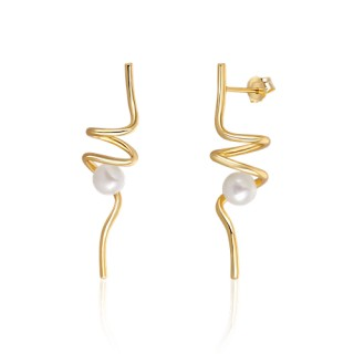 Luxury gilded pearl earrings